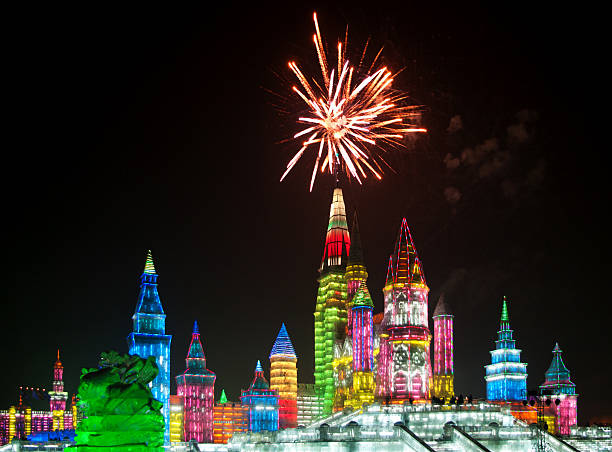 Christmas ice city in Harbin Christmas ice city in Harbin, China harbin stock pictures, royalty-free photos & images