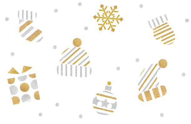 クリスマス アイコン紙が白い背景の上にカット - アイコン プレゼント ストックフォトと画像