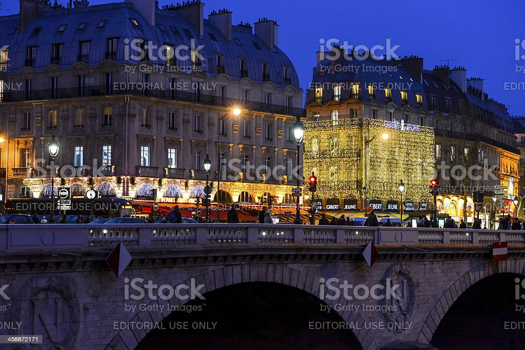 Christmas Illumination in Paris royalty-free stock photo