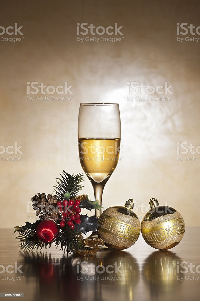 christmas image champagne royalty-free stock photo