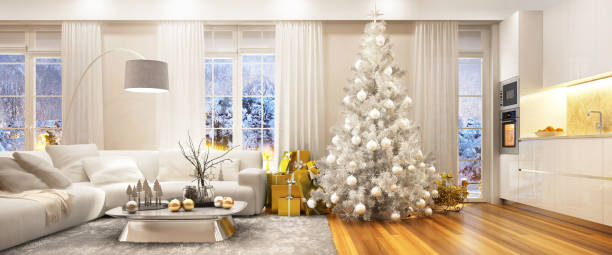 Christmas in a beautiful house Christmas interior christmas interior stock pictures, royalty-free photos & images