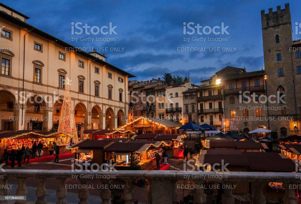 Christmas in Arezzo, Tuscany - foto stock