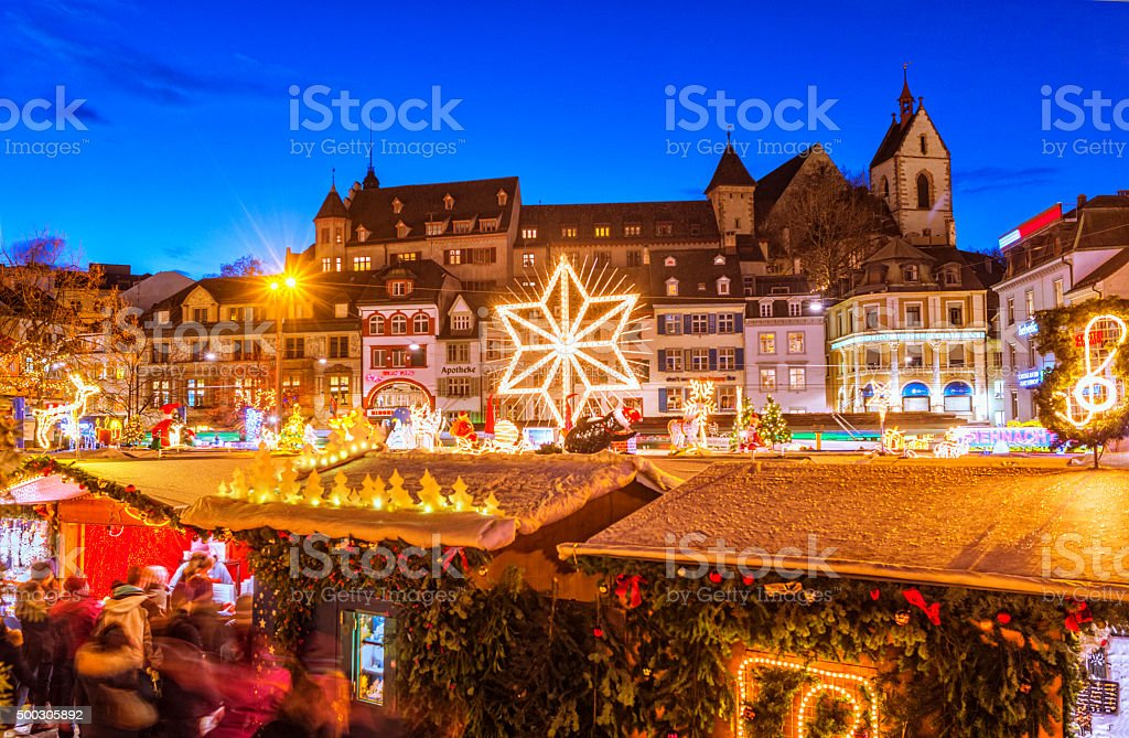 Christmas in Basel stock photo