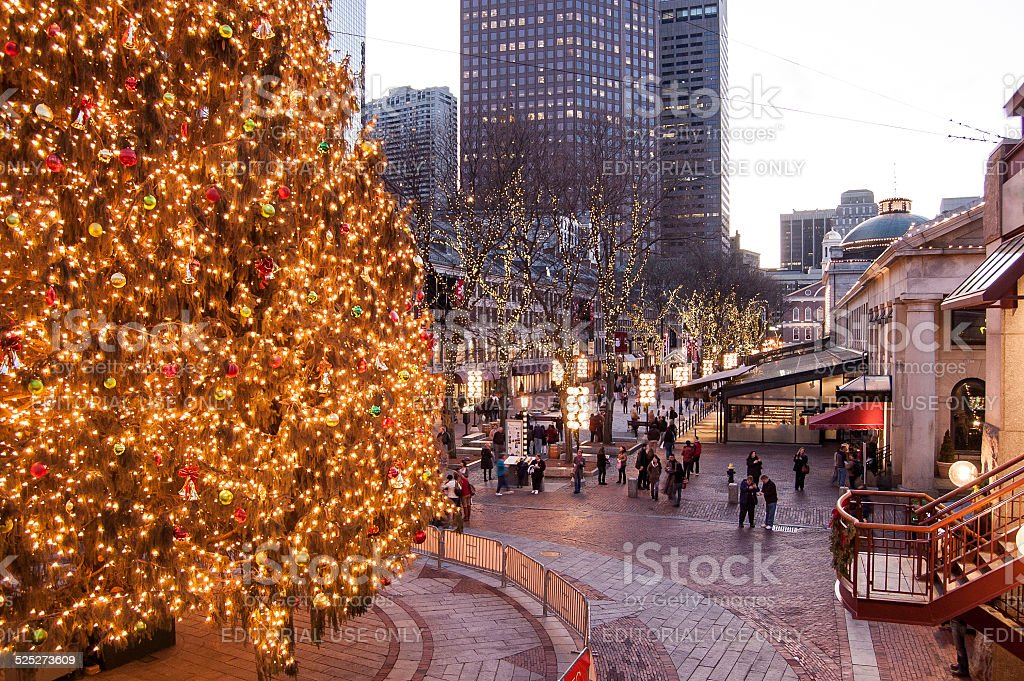 Christmas In Boston stock photo