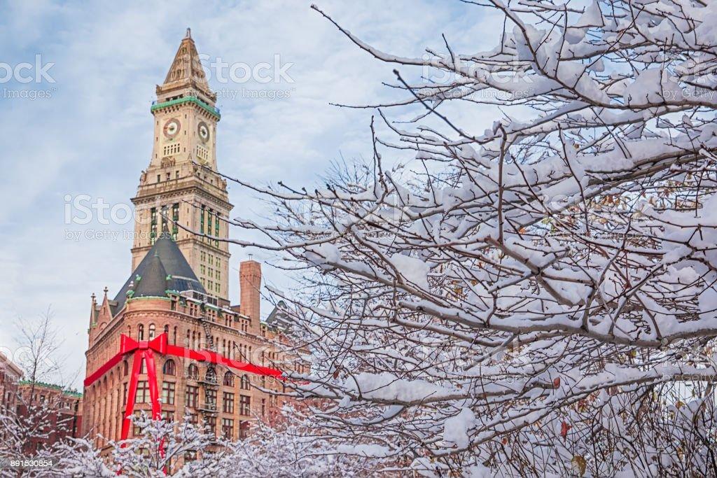 Christmas in Boston, USA stock photo