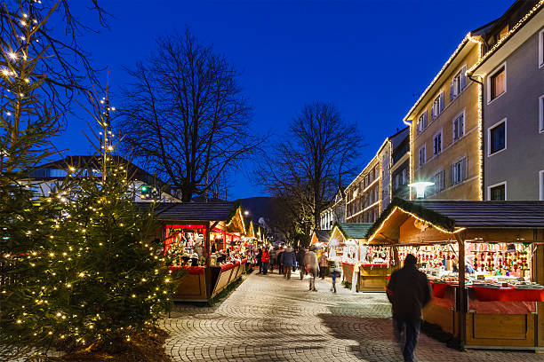 Christmas in Brunico/Bruneck, Italy Christmas market in Brunico/Bruneck, a beautiful small town in north Italy. bruneck stock pictures, royalty-free photos & images