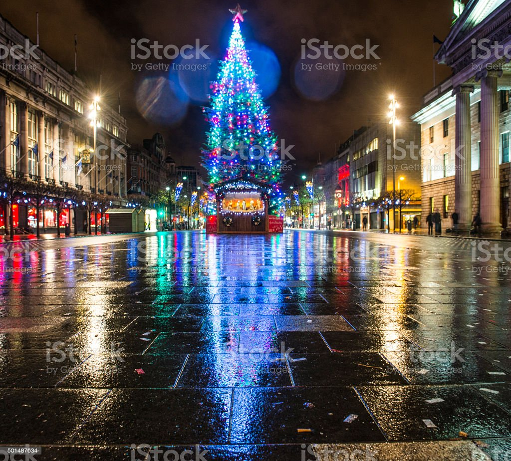 Christmas in Dublin, Ireland stock photo