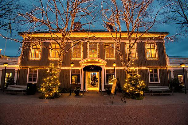 christmas in gothenburg, sweden - liseberg bildbanksfoton och bilder
