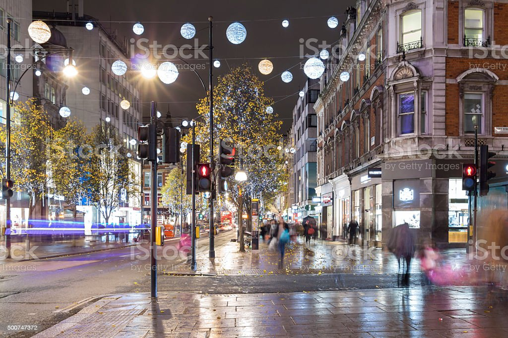 Christmas in London stock photo