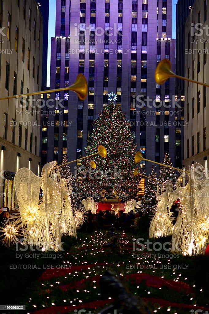 Weihnachten In New York Usa Rockefeller Center Christmas Tree Urlaub ...