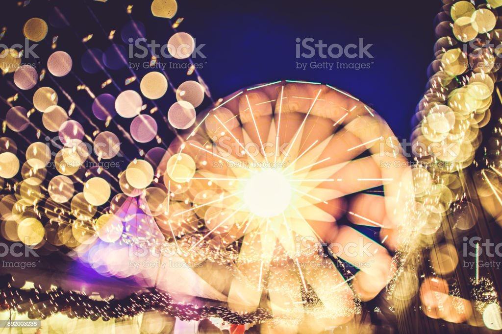 Christmas in Norway: Bergen lights stock photo