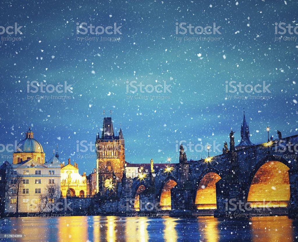 Christmas In Prague stock photo