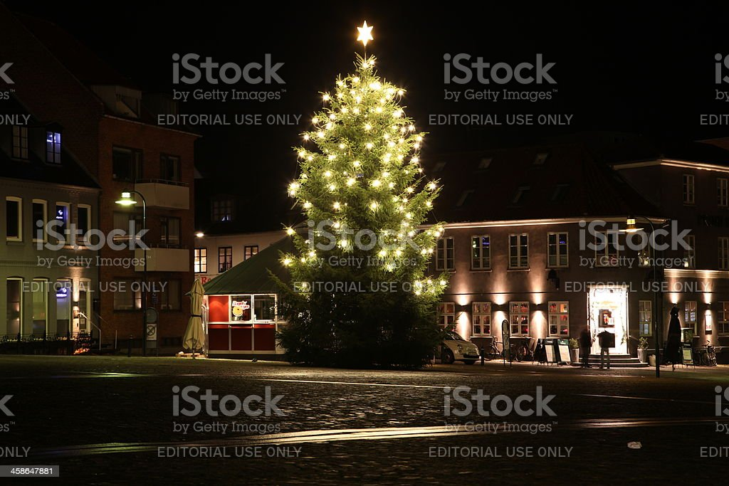 Christmas in Roskilde, Denmark stock photo