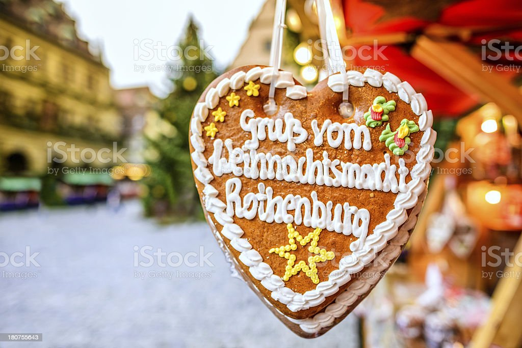 Christmas in Rothenburg ob der Tauber royalty-free stock photo