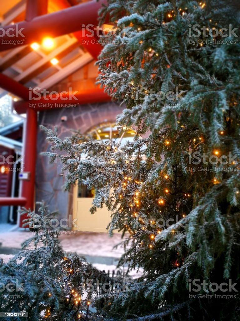 Christmas in Rovaniemi stock photo