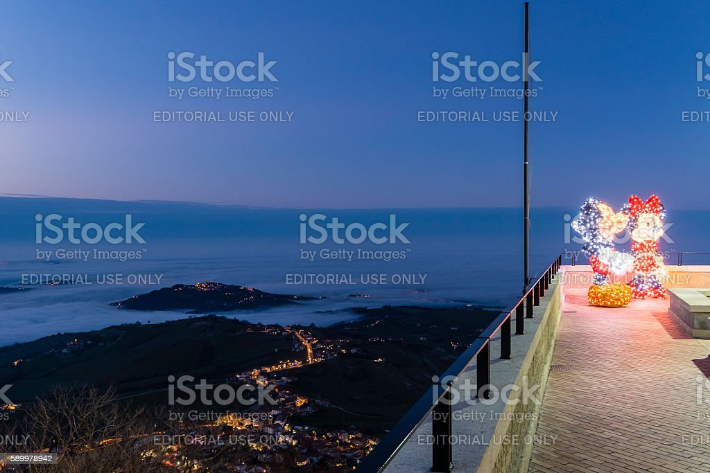 Christmas in San Marino stock photo