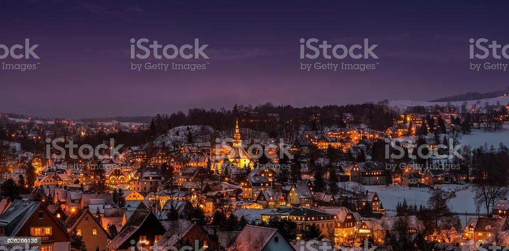 Christmas in Seiffen Oremountains Saxony Germany stock photo