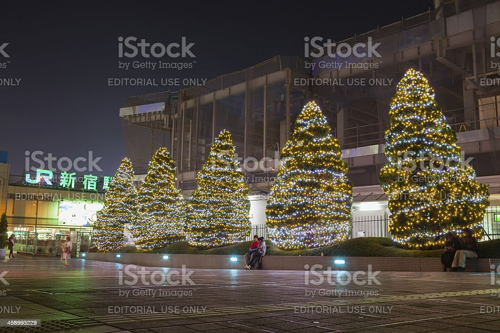 Christmas in Shinjuku Station, Tokyo, Japan royalty-free stock photo