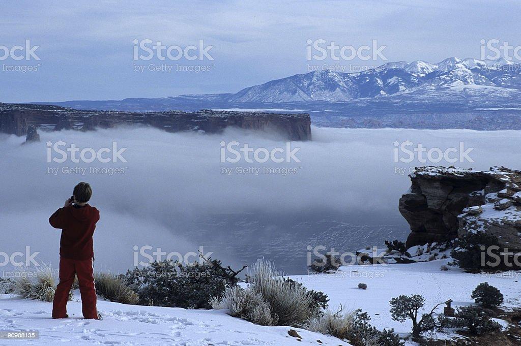 Christmas in the Desert stock photo