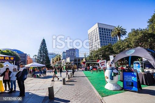 November 25, 2018 San Jose / CA / USA - Entrance to the