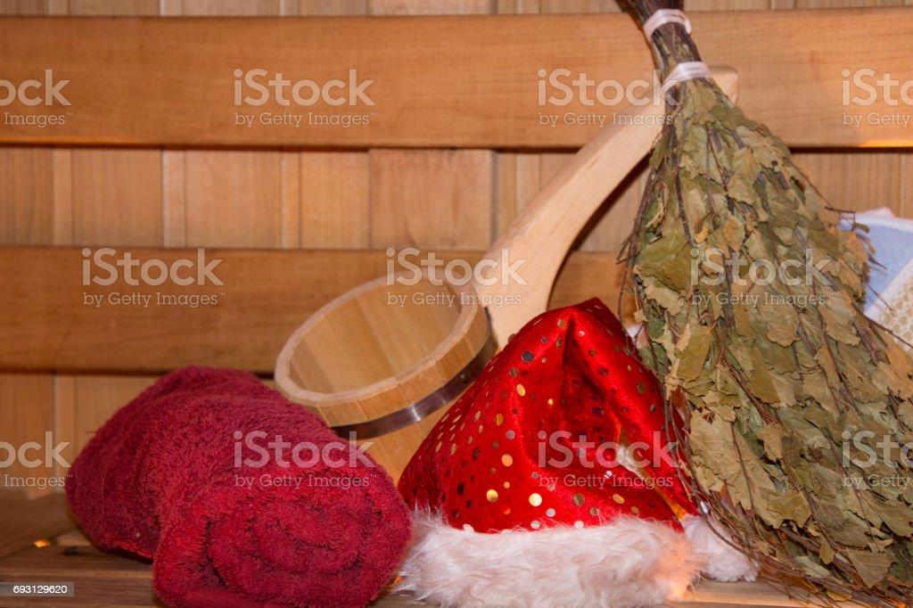 Weihnachten Im Spa Sauna Erholung Entspannung Und Urlaub Stock ...