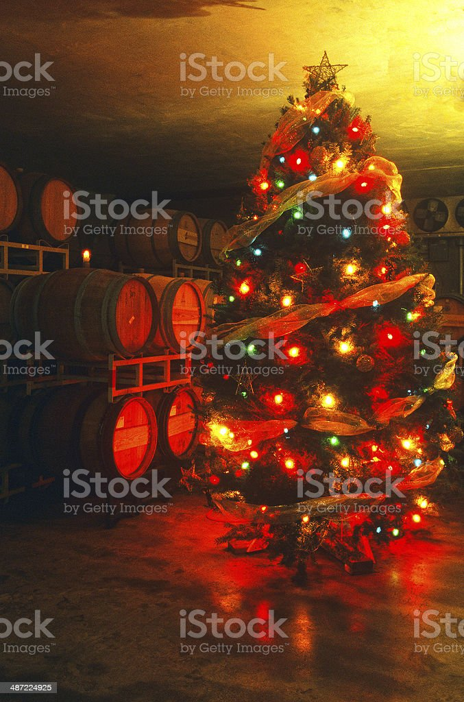 Christmas in the Winery royalty-free stock photo