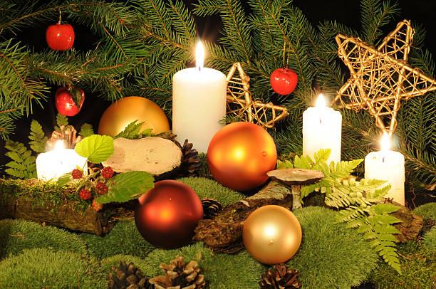 weihnachten in die wood - sternmoos stock-fotos und bilder