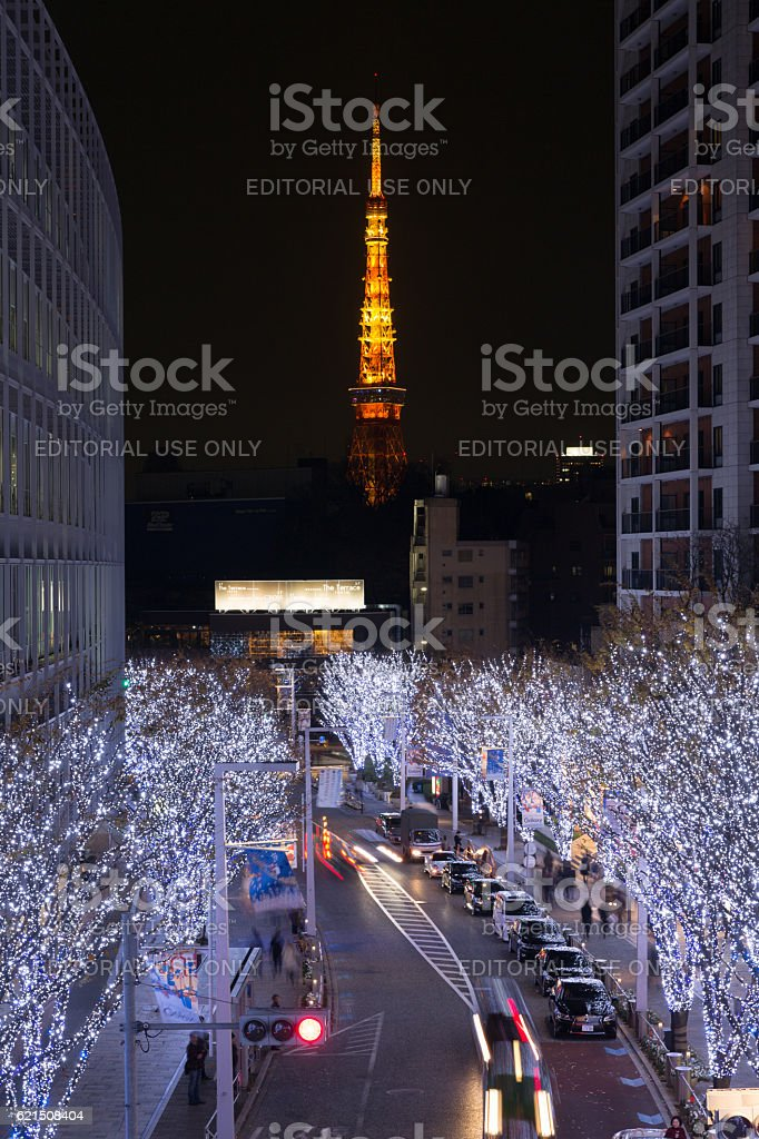 Natale a Tokyo, Giappone foto stock royalty-free