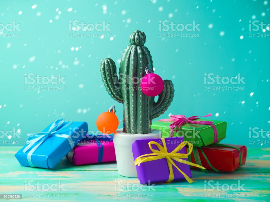 Christmas in tropical climate concept. stock photo