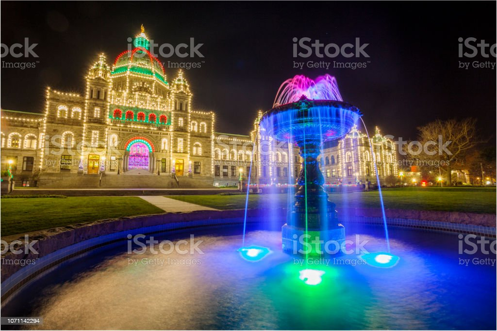 Christmas in Victoria BC stock photo