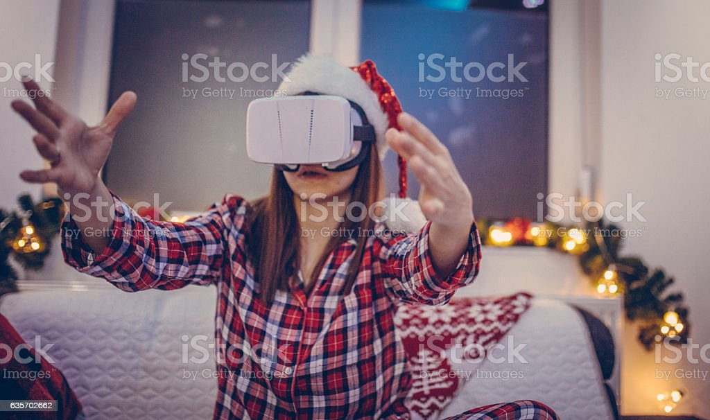 Christmas in virtual reality royalty-free stock photo