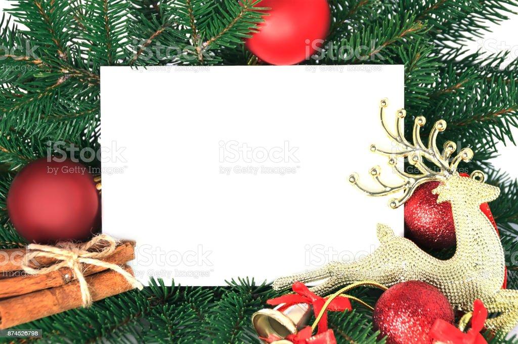 Tarjeta De Invitación De Navidad Para El Saludo De