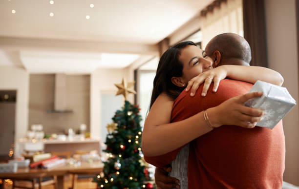 Christmas is a time of giving stock photo