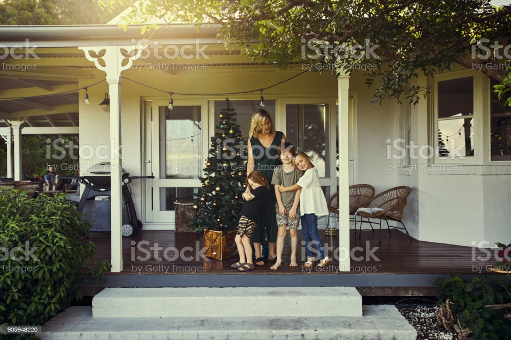 Christmas is all about family stock photo