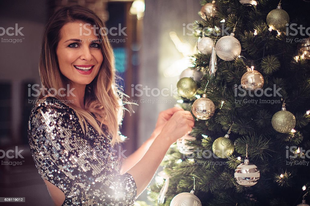 Christmas is my favorite time of year stock photo