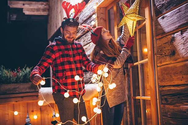 weihnachten ist fast da. - vorbau dekor stock-fotos und bilder