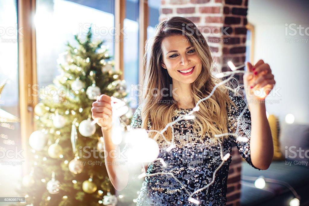 Christmas is nearly here. - Royalty-free 30-39 jaar Stockfoto