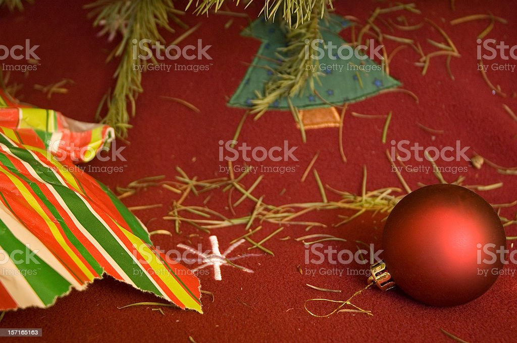 Christmas Is Over royalty-free stock photo