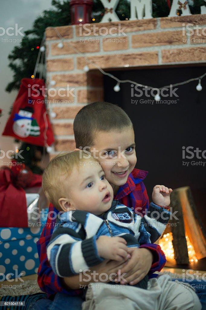 Weihnachtszeit ist die schönste Zeit des Jahres Lizenzfreies stock-foto