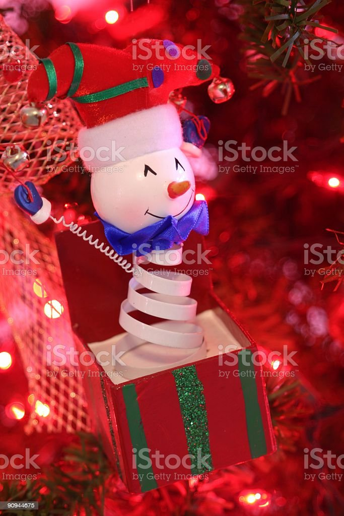 Christmas Jack in the Box royalty-free stock photo