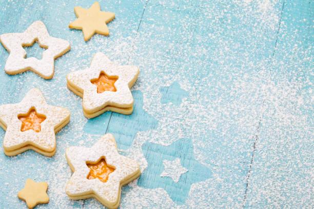 Christmas Jam Cookies stock photo