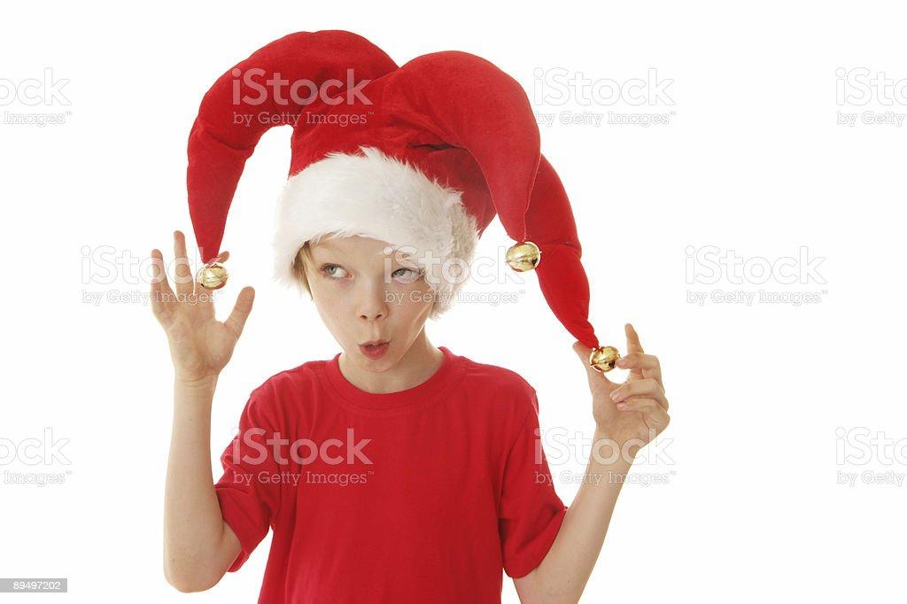 Christmas Joker royaltyfri bildbanksbilder