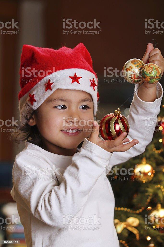 Christmas joy on child face royalty-free stock photo