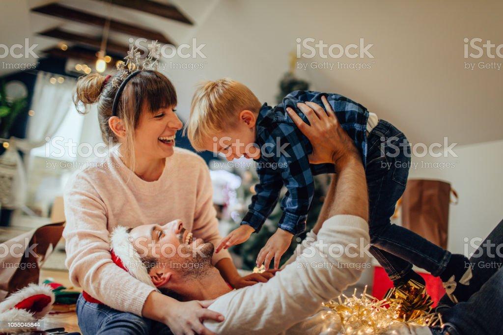 Weihnachten Freude mit meiner Familie – Foto