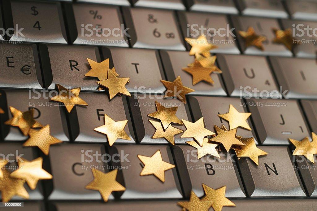 Christmas Keyboard stock photo