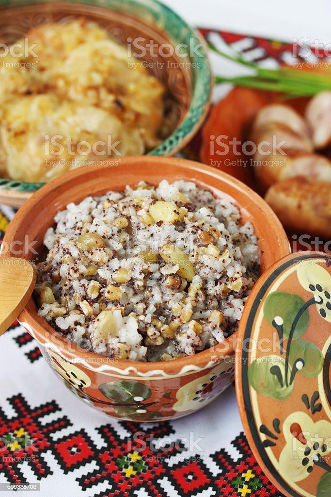 Christmas kutia dish royalty-free stock photo