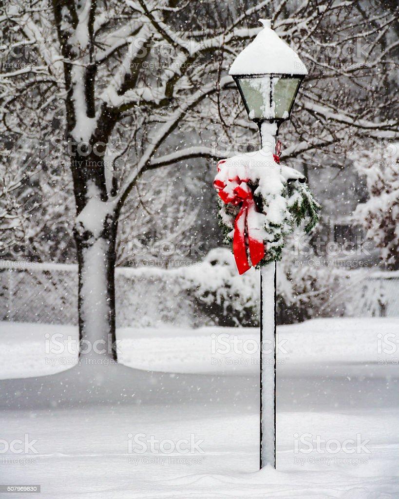 Christmas Lamp stock photo