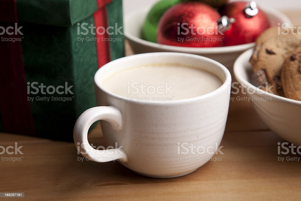 Christmas latte and cookies royalty-free stock photo