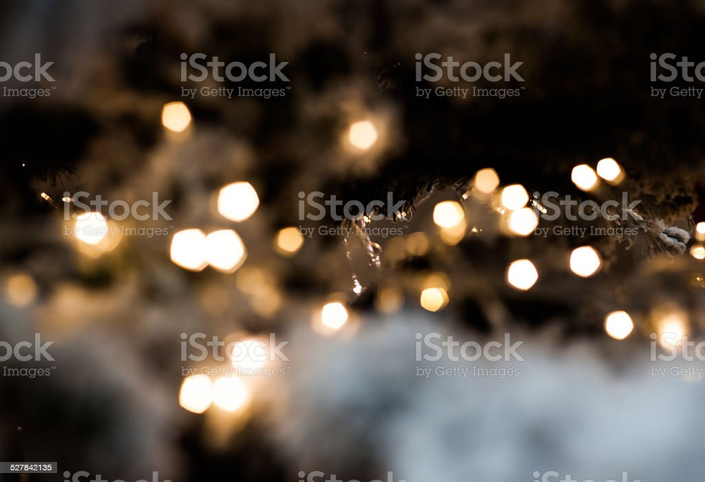 christmas led lights in the dark stock photo