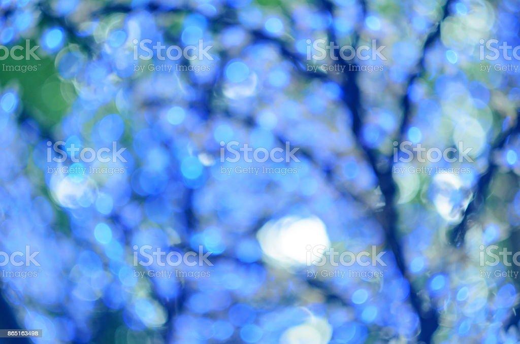 Blaue Weihnachtsbeleuchtung.Led Weihnachtsbeleuchtung In Form Von Blumen Blaue Bokeh Ausgewählte